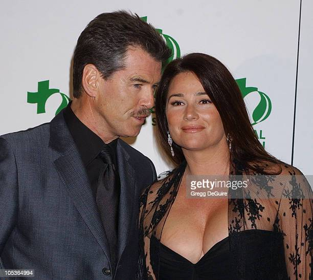 Pierce Brosnan and Keely Shaye Smith during 8th Annual Green Cross Millennium Awards at St Regis Hotel in Los Angeles California United States