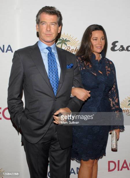Pierce Brosnan and Keely Shaye Smith during Oceana Celebrates 2006 Partners Award Gala Arrivals at Esquire House 360 in Los Angeles California United...