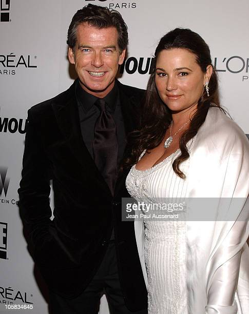 Pierce Brosnan and Keely Shaye Smith during The Weinstein Co/Glamour 2006 Golden Globe After Party Arrivals at Trader Vic's in Beverly Hills...
