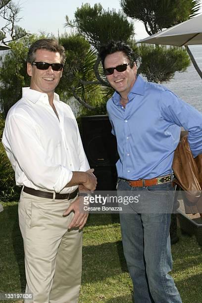 Pierce Brosnan and Michael Madsen during Dr Jane Goodall Champagne Tea Reception at Malibu Event in malibu california United States