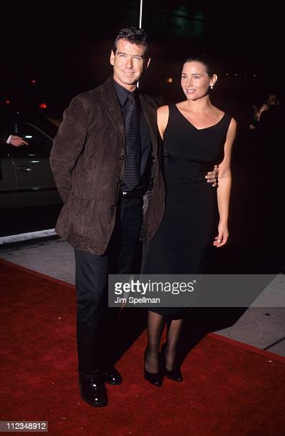 Pierce Brosnan and wife Keely during 'Elizabeth' Premiere at DGA Theater in New York City New York United States