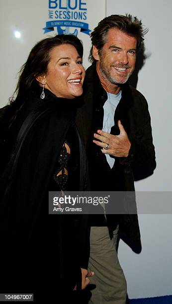 Pierce Brosnan and wife Keely Shaye Smith during 'Blue Jam Sessions' with Counting Crows and Jewel at House of Blues in West Hollywood California...