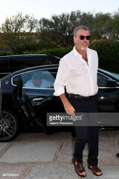 Pierce Brosnan arrives at The Costa Smeralda Invitational Gala Dinner at Cala di Volpe Hotel Costa Smeralda on June 17 2017 in Olbia Italy