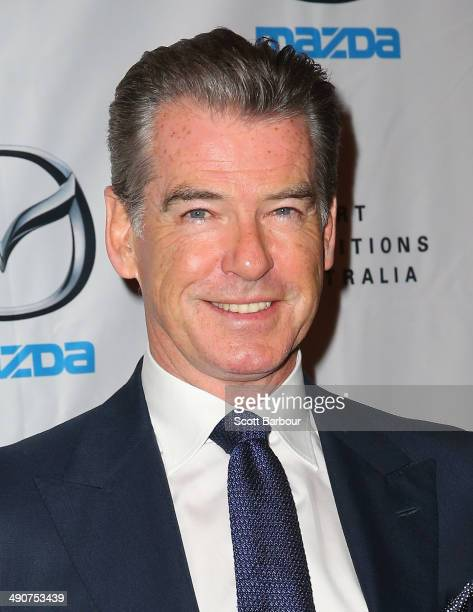 Pierce Brosnan arrives at the National Gallery of Victoria for the Opening Night of the Italian Masterpieces Exhibition on May 15 2014 in Melbourne...