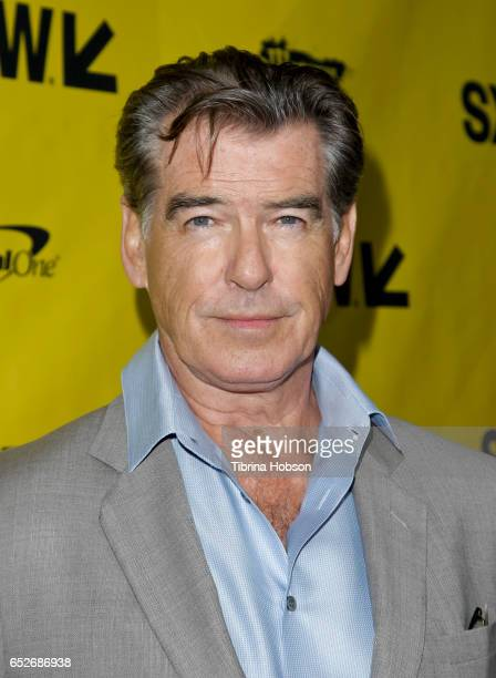 Pierce Brosnan attends AMC's 'The Son' premiere and panel with Pierce Brosnan Philipp Meyer Kevin Murphy on March 12 2017 in Austin Texas