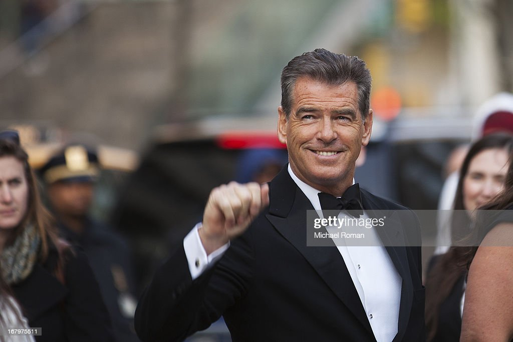 <a gi-track='captionPersonalityLinkClicked' href=/galleries/search?phrase=Pierce+Brosnan&family=editorial&specificpeople=194774 ng-click='$event.stopPropagation()'>Pierce Brosnan</a> attends the 40th Anniversary Chaplin Award Gala at Avery Fisher Hall at Lincoln Center for the Performing Arts on April 22, 2013 in New York City.