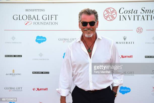 Pierce Brosnan attends The Costa Smeralda Invitational Gala Dinner at Cala di Volpe Hotel Costa Smeralda on June 17 2017 in Olbia Italy