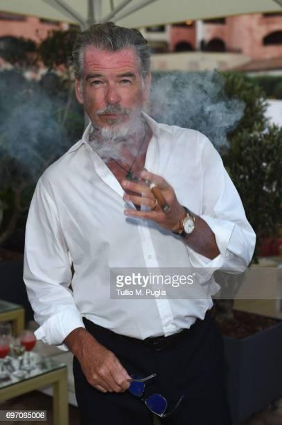 Pierce Brosnan attends The Costa Smeralda Invitational Gala Dinner at Cala di Volpe Hotel Costa Smeralda on June 17 2017 in Olbia Italy