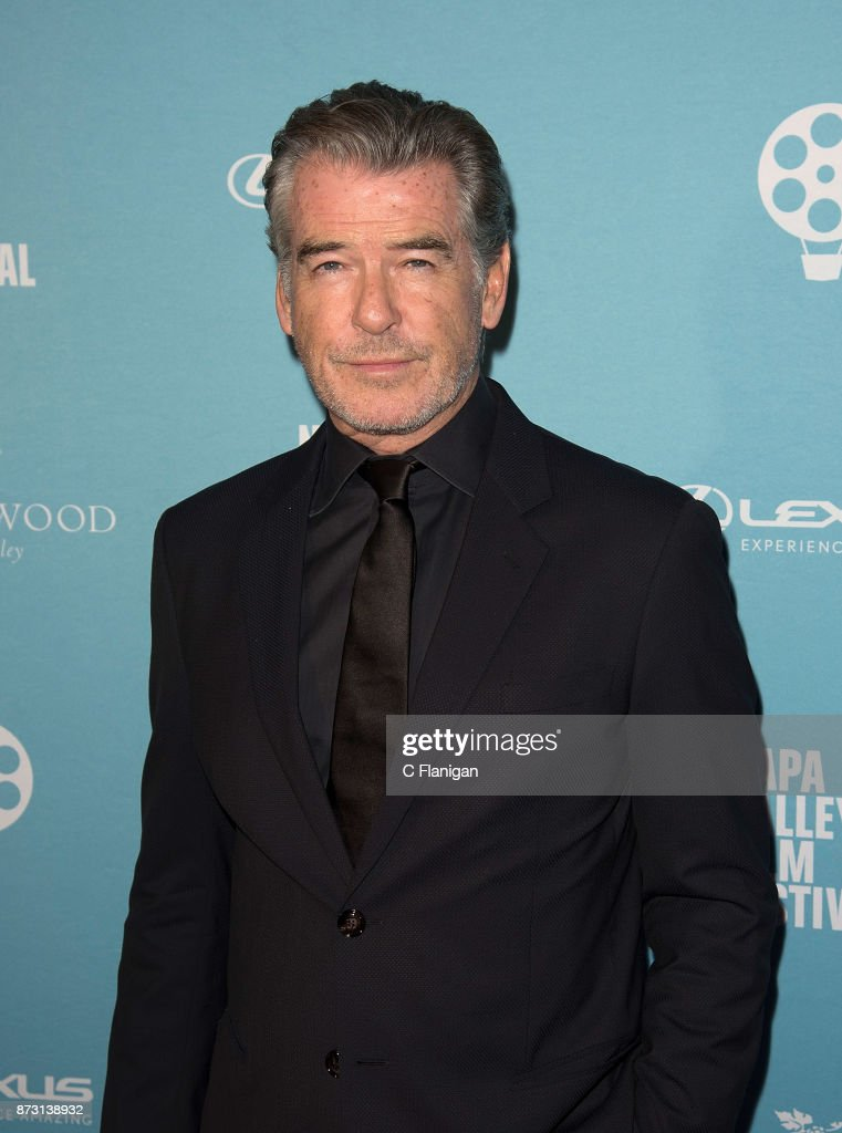 Pierce Brosnan attends the Red Carpet Festival Gala at CIA Copia during the 7th Annual Napa Valley Film Festival on November 11, 2017 in Napa, California.