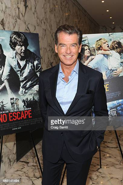 Pierce Brosnan attends the special screening of NO ESCAPE with Owen Wilson Lake Bell and Pierce Brosnan at Dolby 88 Theater on August 24 2015 in New...