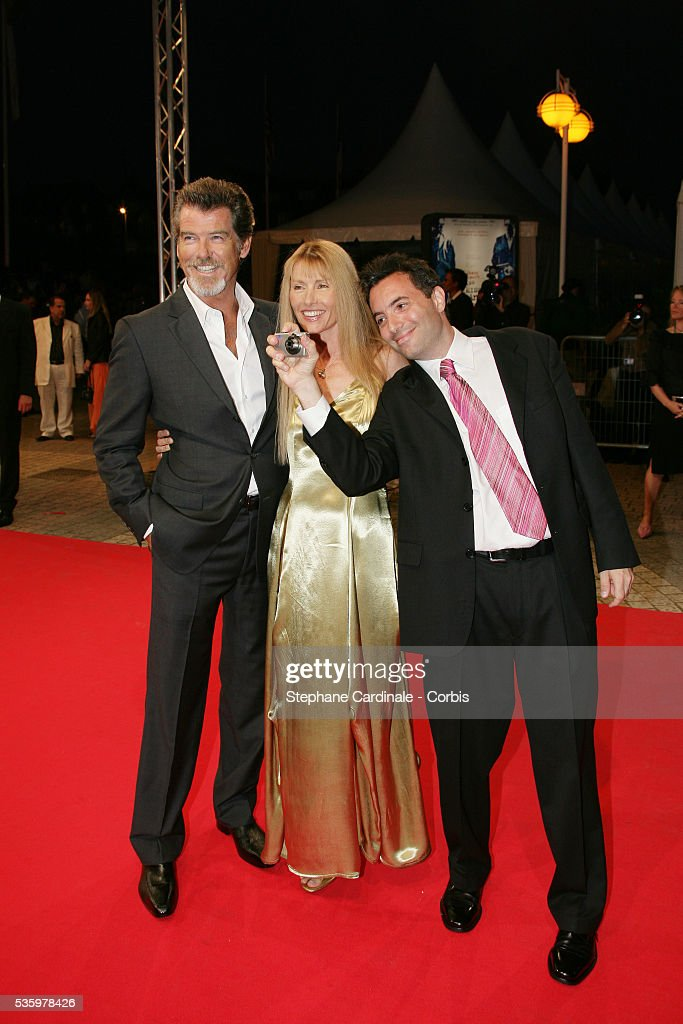 Pierce Brosnan, Beau Sinclair, Richard Shepard at the opening ceremony of the 31st American Deauville Film Festival.