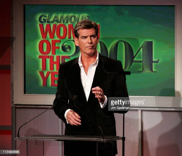 Pierce Brosnan during '15th Annual Glamour Women of the Year Awards' Show at American Museum of Natural History in New York City New York United...