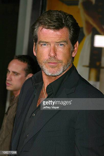 Pierce Brosnan during 'Kill Bill Vol 1' Premiere Arrivals at Grauman's Chinese Theatre in Hollywood California United States
