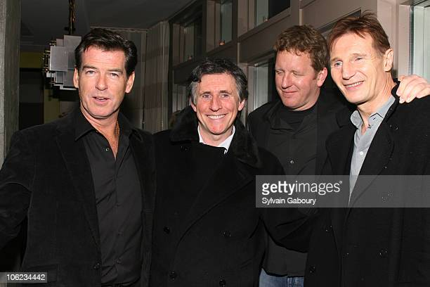 Pierce Brosnan Gabriel Byrne David Von Ancken and Liam Neeson