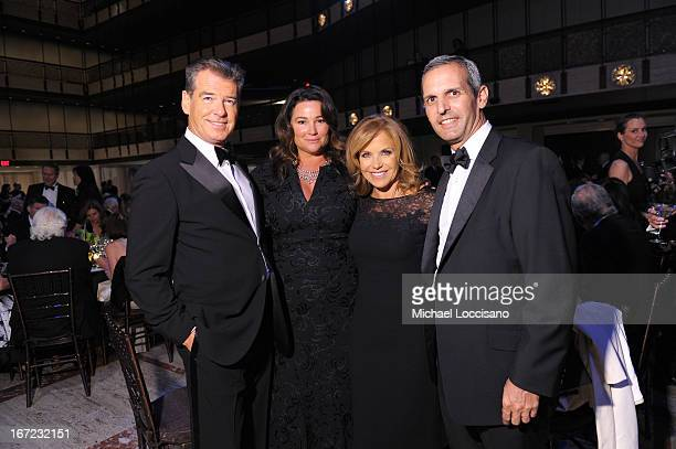Pierce Brosnan Keely Shaye Smith Katie Couric and John Molner attend the 40th Anniversary Chaplin Award Gala at David Koch Theatre at Lincoln Center...