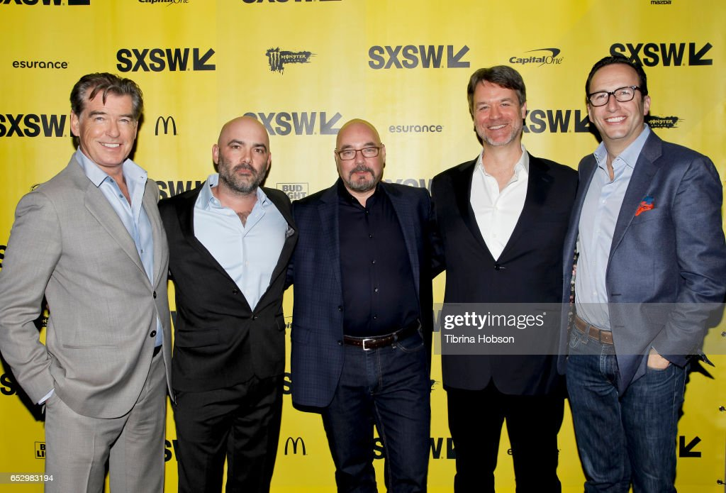 Pierce Brosnan, Philipp Meyer, Joel Stillerman, Kevin Murphy and Charlie Collier attend AMC's 'The Son' premiere and panel with Pierce Brosnan, Philipp Meyer, Kevin Murphy on March 12, 2017 in Austin, Texas.