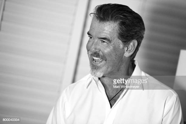 Pierce Brosnan recipient of the Pathfinder Award poses for a portrait during day two of the 2017 Maui Film Festival at Wailea on June 22 2017 in...