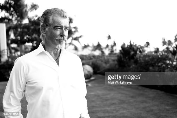 Pierce Brosnan recipient of the Pathfinder Award poses for a portrait during day three of the 2017 Maui Film Festival At Wailea on June 23 2017 in...