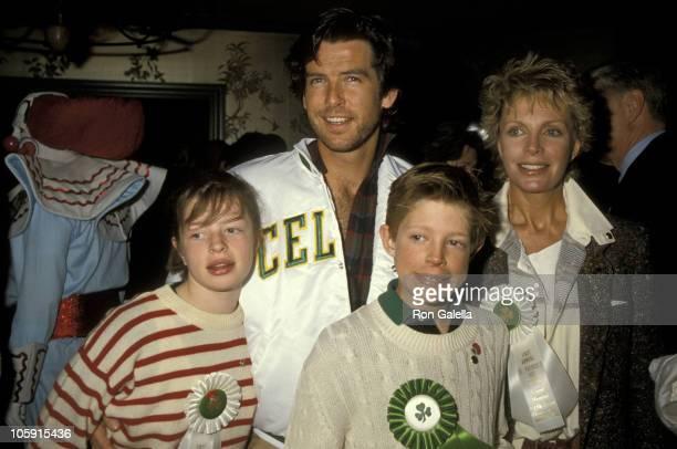 Pierce Brosnan Wife Cassandra Harris Son Christopher Harris and Daughter Charlotte Harris