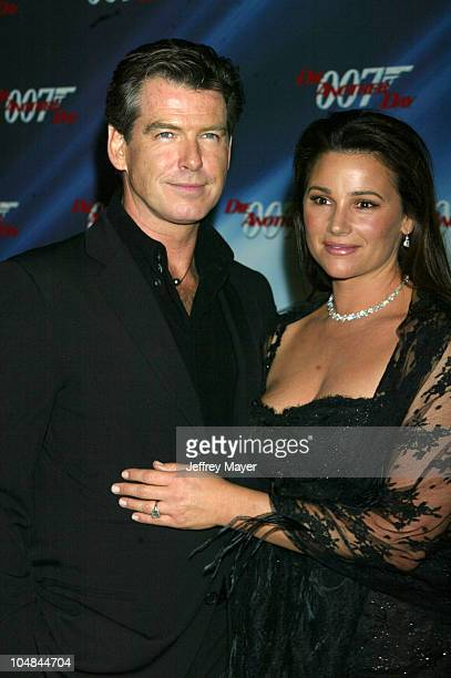 Pierce Brosnan wife Keely Shaye Smith during 'Die Another Day' Los Angeles Premiere at Shrine Auditorium in Los Angeles California United States