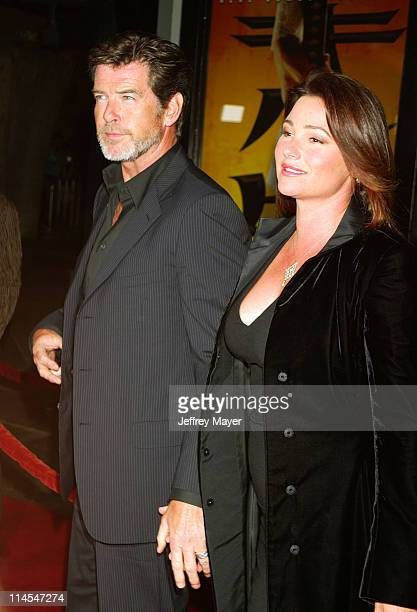 Pierce Brosnan wife Keely Shaye Smith during 'Kill Bill Vol 1' Premiere Arrivals at Grauman's Chinese Theatre in Hollywood California United States