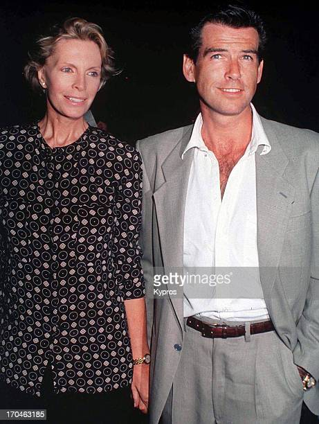 Pierce Brosnan with his wife actress Cassandra Harris circa 1990