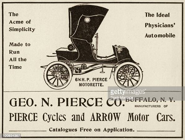 A Pierce Motorette 61/2 horsepower automobile is shown in a magazine advertisement from 1903 The ad states that it's 'The ideal physicians'...