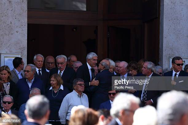 Pierferdinando Casini and Fausto Bertinotti at the funeral of Ciampi Funeral in private of President Emeritus of the Republic Carlo Azeglio Ciampi...