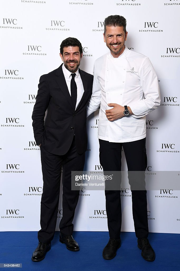 <a gi-track='captionPersonalityLinkClicked' href=/galleries/search?phrase=Pierfrancesco+Favino&family=editorial&specificpeople=676710 ng-click='$event.stopPropagation()'>Pierfrancesco Favino</a> and Andrea Berton attend IWC Boutique Opening Dinner on June 28, 2016 in Milan, Italy.