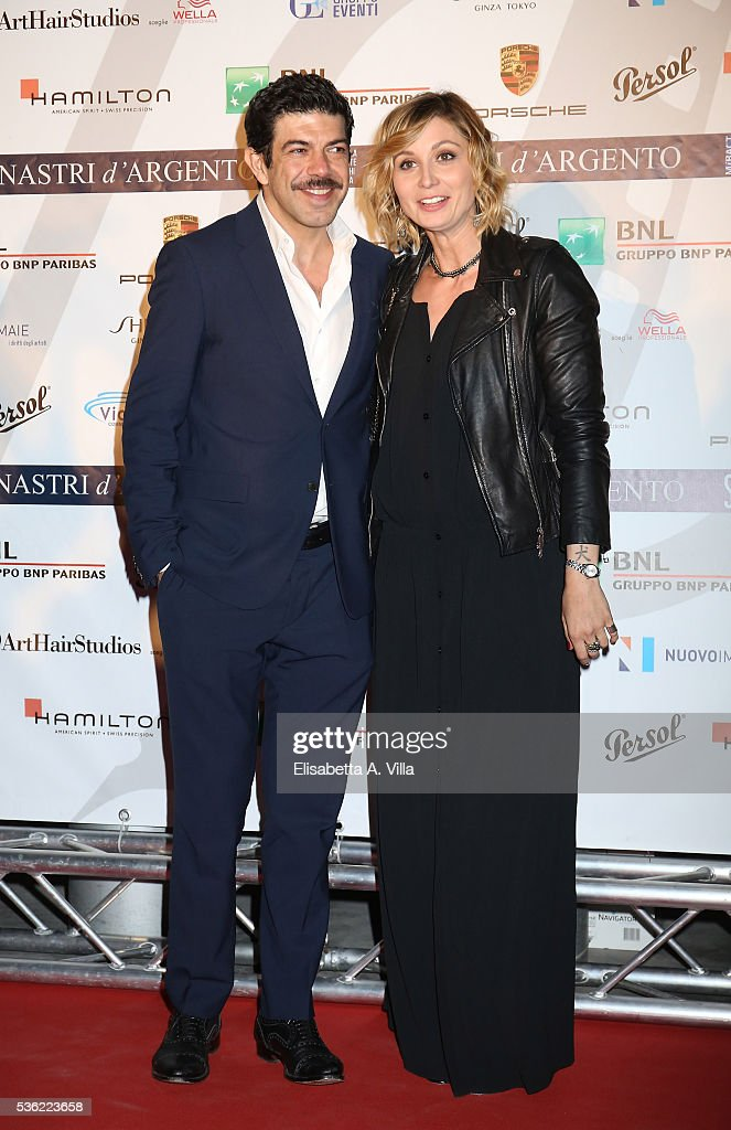 Pierfrancesco Favino and Anna Ferzetti attend Nastri D'Argento 2016 Award Nominations at Maxxi on May 31, 2016 in Rome, Italy.