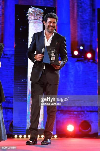 Pierfrancesco Favino attend Nastri D'Argento 2017 Awards Ceremony on July 1 2017 in Taormina Italy