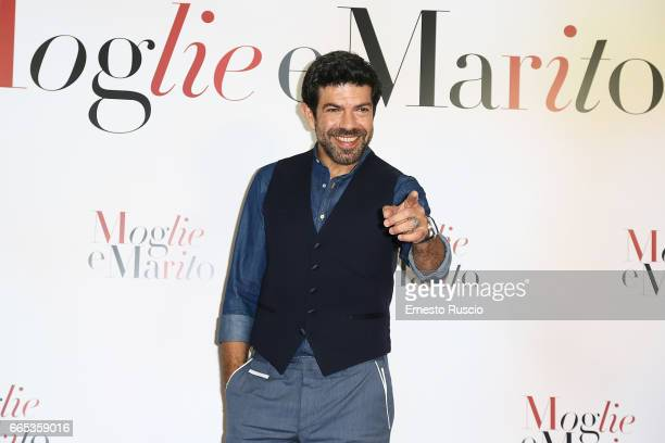 Pierfrancesco Favino attends a photocall for 'Moglie E Marito' at the apartment on April 6 2017 in Rome Italy