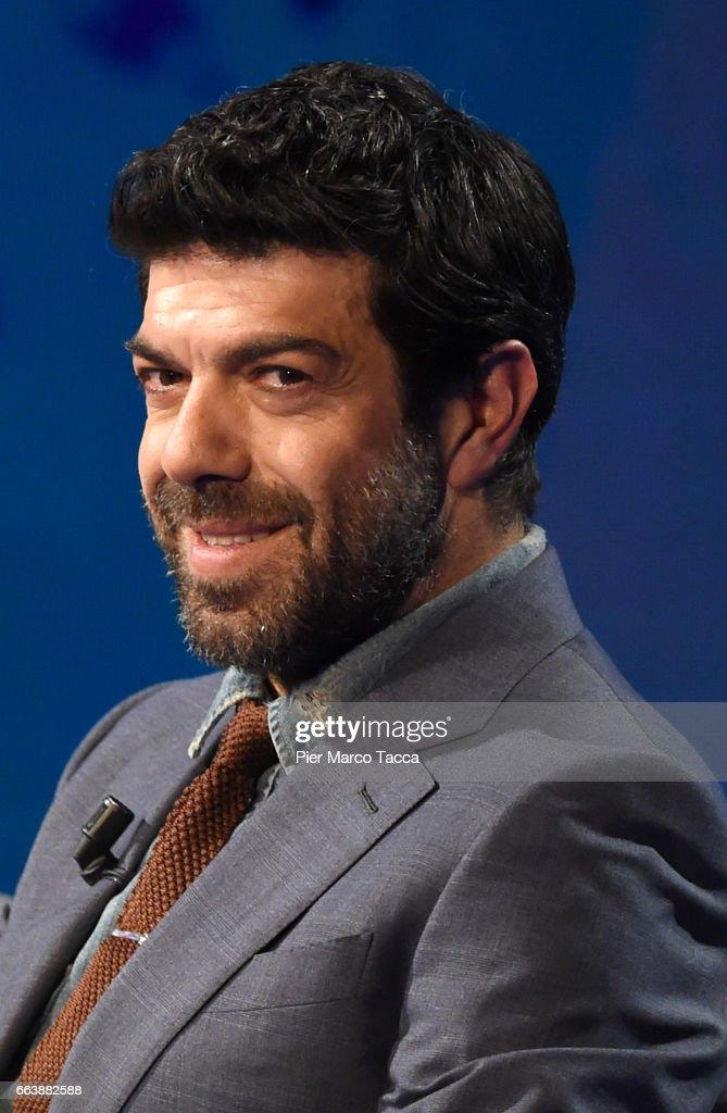 Pierfrancesco Favino attends 'Che Tempo Che Fa' tv show on April 2, 2017 in Milan, Italy.