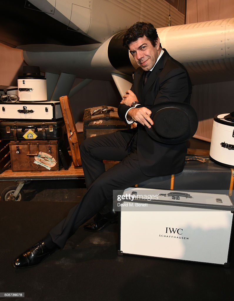 Pierfrancesco Favino attends the IWC 'Come Fly with us' Gala Dinner during the launch of the Pilot's Watches Novelties from the Swiss luxury watch manufacturer IWC Schaffhausen at the Salon International de la Haute Horlogerie (SIHH) 2016 on January 19, 2016 in Geneva, Switzerland.