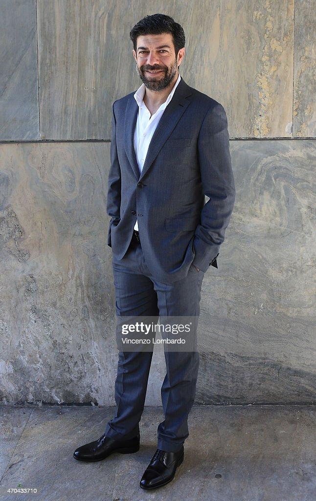 Pierfrancesco Favino attends the Presentation Of 'Camogli Communications Festival' And 'Io Leggo Perche'' Tv Show on April 20, 2015 in Milan, Italy.