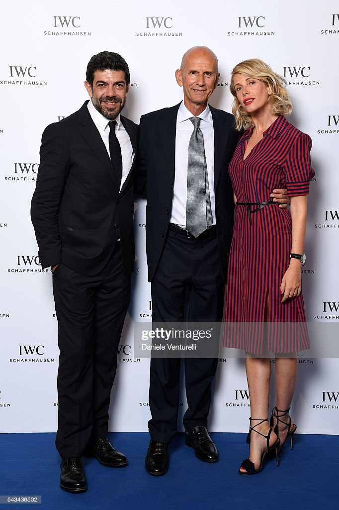 <a gi-track='captionPersonalityLinkClicked' href=/galleries/search?phrase=Pierfrancesco+Favino&family=editorial&specificpeople=676710 ng-click='$event.stopPropagation()'>Pierfrancesco Favino</a>, <a gi-track='captionPersonalityLinkClicked' href=/galleries/search?phrase=Beppe+Ambrosini&family=editorial&specificpeople=11036103 ng-click='$event.stopPropagation()'>Beppe Ambrosini</a> Brand Manager IWC Italia and <a gi-track='captionPersonalityLinkClicked' href=/galleries/search?phrase=Alessia+Marcuzzi&family=editorial&specificpeople=3958121 ng-click='$event.stopPropagation()'>Alessia Marcuzzi</a> attend IWC Boutique Opening Dinner on June 28, 2016 in Milan, Italy.