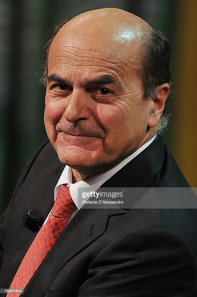 Pierluigi Bersani attends 'Che Tempo Che Fa' Italian TV Show on March 3, 2013 in Milan, Italy.