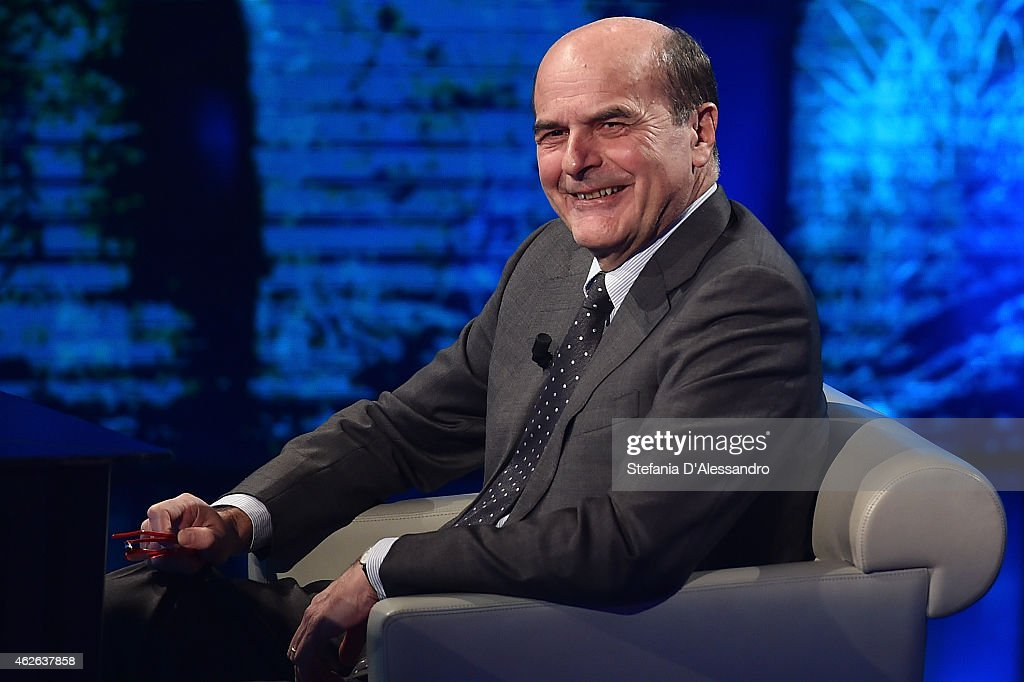 <a gi-track='captionPersonalityLinkClicked' href=/galleries/search?phrase=Pierluigi+Bersani&family=editorial&specificpeople=4182508 ng-click='$event.stopPropagation()'>Pierluigi Bersani</a> attends ''Che Tempo Che Fa' TV Show on February 1, 2015 in Milan, Italy.