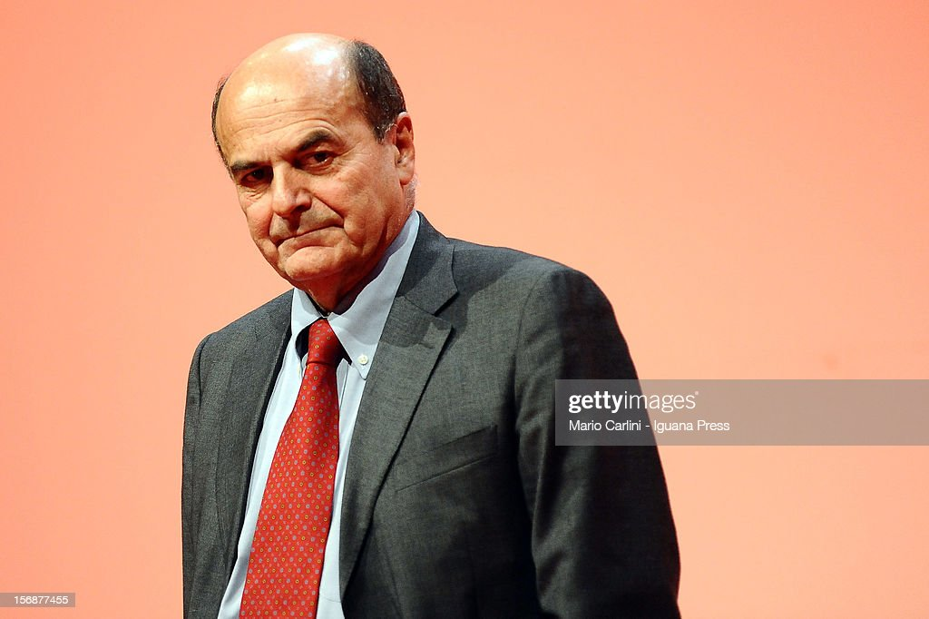 Pierluigi Bersani Speaks In Bologna Prior To PD Primaries Election