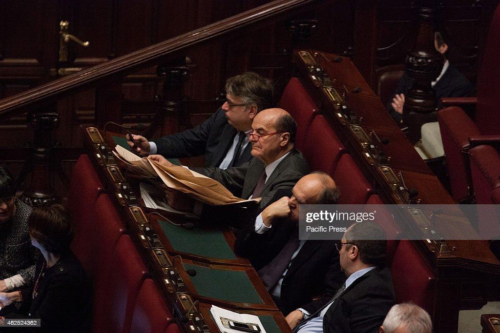 MONTECITORIO ROME ROME ITALY Pierluigi Bersani Vote in joint session for the election of the President of the Italian Republic