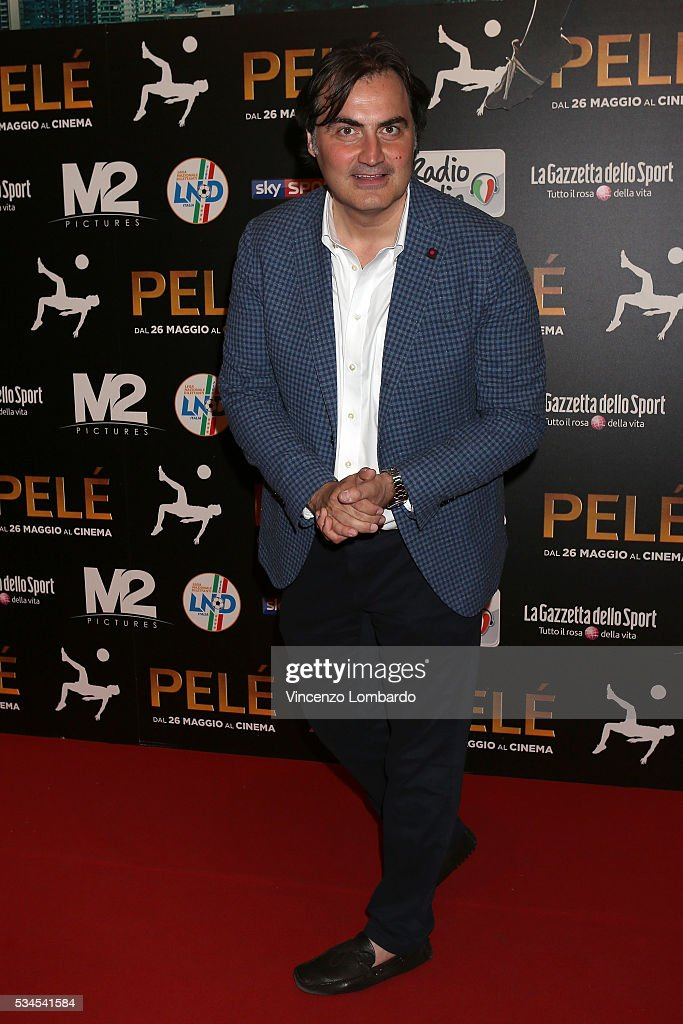 Pierluigi Pardo attends the 'Pele' Red Carpet In Milan on May 26, 2016 in Milan, Italy.