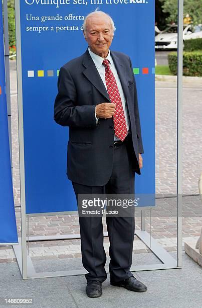 Piero Angela attends the Palinsesti Rai photocall at Cavalieri Hilton Hotel on June 20 2012 in Rome Italy