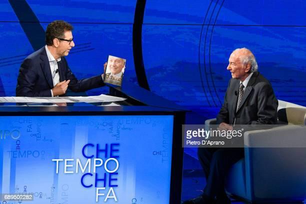Piero Angela Fabio Fazio attends 'Che Tempo Che Fa' tv show at Rai Milan Studios on May 28 2017 in Milan Italy
