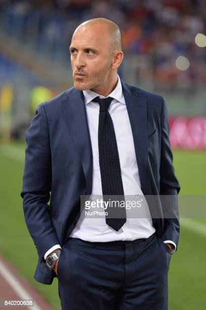 Piero Ausilio during the Italian Serie A football match between AS Roma and FC Inter at the Olympic Stadium in Rome on august 26 2017