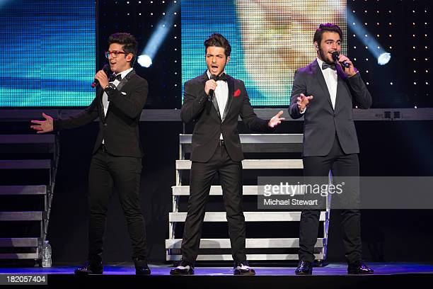 Piero Barone Gianluca Ginoble and Ignazio Boschetto of Il Volo perform at Radio City Music Hall on September 27 2013 in New York City