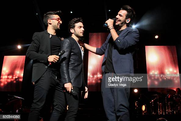 Piero Barone Gianluca Ginoble and Ignazio Boschetto of IL Volo perform in 'Grande Amore World Tour' at Coliseo Jose M Agrelot on April 10 2016 in San...