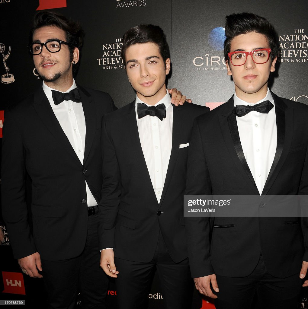 Piero Barone Ignazio Boschetto and Gianluca Ginoble of Il Volo attend the 40th annual Daytime Emmy Awards at The Beverly Hilton Hotel on June 16 2013...