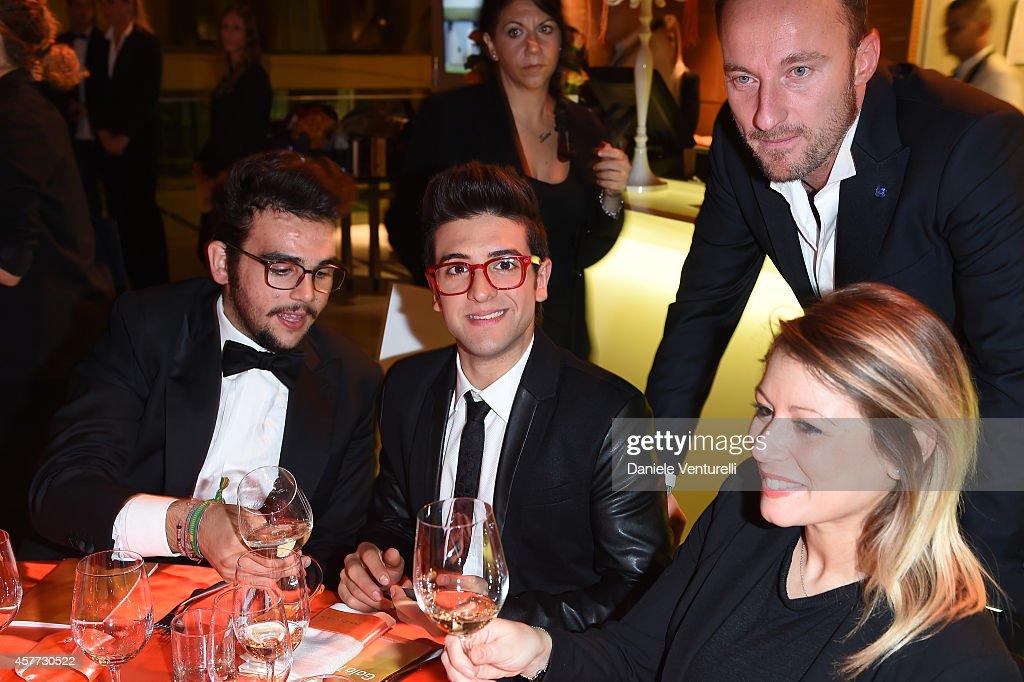 Piero Barone Ignazio Boschetto Francesco Facchinetti and guest attend Gala Telethon during the 9th Rome Film Festival at Auditorium Parco Della...