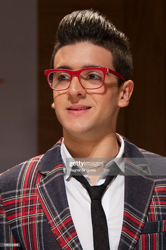 Piero Barone of Il Volo attends a press conference ahead of the Nobel Peace Prize Concert at Radisson Blu Plaza Hotel on December 11, 2012 in Oslo, Norway.