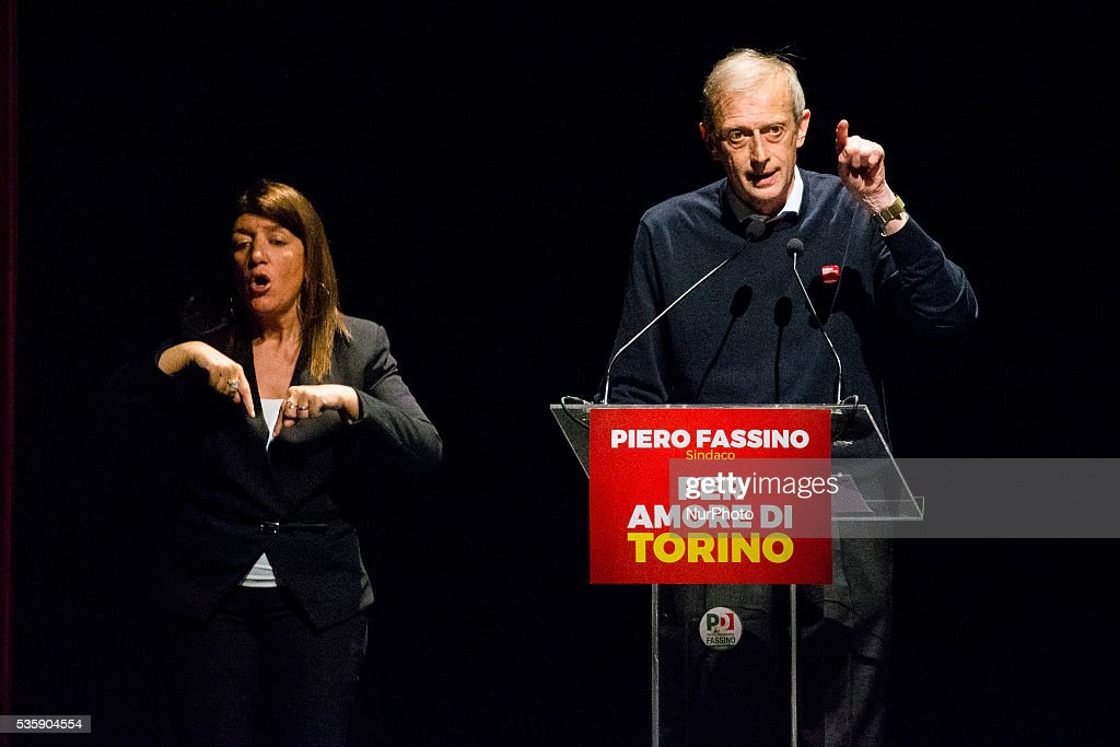 <a gi-track='captionPersonalityLinkClicked' href=/galleries/search?phrase=Piero+Fassino&family=editorial&specificpeople=621459 ng-click='$event.stopPropagation()'>Piero Fassino</a>, Mayor of Torino speaks in Turin during the final week before the new election, on May 30, 2016.
